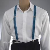 Black & Blue Check Braces