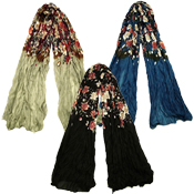 Winter Flower Scarf with Hanger