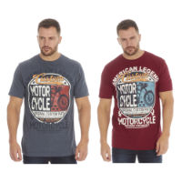 Mens Printed T-Shirt Motor