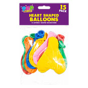Heart Shape Balloons 15 Pack
