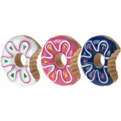 Squeaky Doughnut Dog Toy 3 Assorted