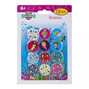 Mermaid Design Erasers 12 Pack