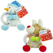 First Steps Christmas Plush Toy With Rattle