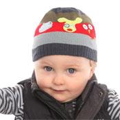 Baby Ski Hats with Stripes