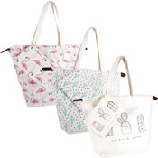 Mixed Designs Straw Bag With Extra Pouch