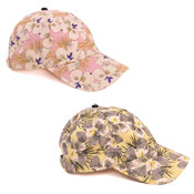 Ladies Flower Print Baseball Cap