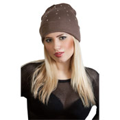 Slouch Beanie Hat with Flat Studs
