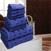 Luxurious Egyptian Royal Blue 8 Piece Towel Bale