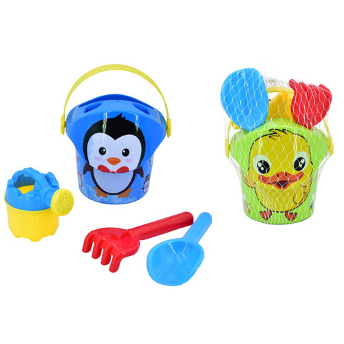 Decorated Bucket Set 5 Piece
