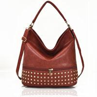 Adette Stud Bag Light Red