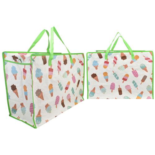Large Ice Cream Print Laundry / Beach Bag