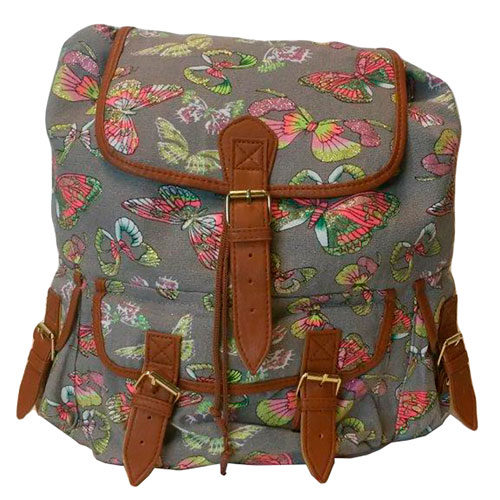 Butterfly Backpack Grey