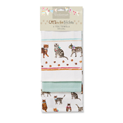 Cats on Parade 3 Pack Tea Towels