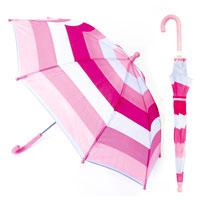 Kids Striped Umbrella Pink