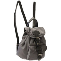 Handy Mini Backpack With Front Pocket Grey