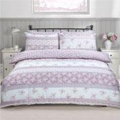 Patchwork Floral Pink Duvet Set