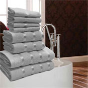Luxurious Egyptian Silver 8 Piece Towel Bale