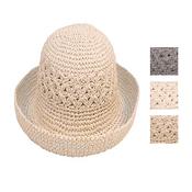 Ladies Crushable Straw Hat with turn up brim