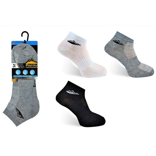 Mens ProHike Trainer Socks Plain With Logo