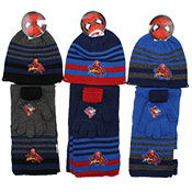 Official Marvel Spiderman 3 Piece Knitted Hat Glove & Scarf Set