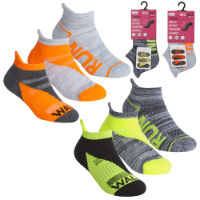 Girls 3 Pack Trainer Socks Run Walk Jog