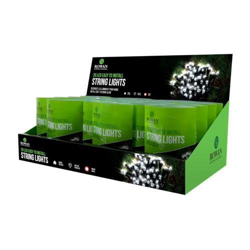 White LED String Lights 20 Pack