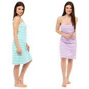 Ladies Stripe Print Jersey Chemise