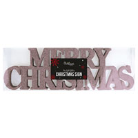 Rose Gold Merry Christmas Sign