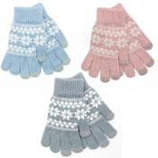 Ladies Touch Screen Fairisle Gloves