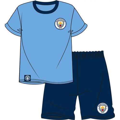Official Mens Manchester City Shortie Pyjamas