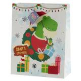 Christmas Dinosaur Gift Bag Large