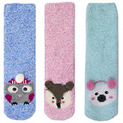 Ladies Soft Slipper Sock Animal