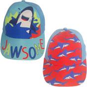 Childrens Shark Jawsome Design Baseball Cap