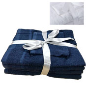 Luxurious Cotton 6 Piece Towel Bale Navy
