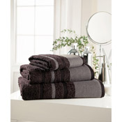 Egyptian Cotton Bath Towel Brown Stripe