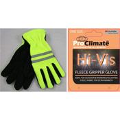 Hi Vis Fleece Gripper Gloves