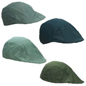 Mens Lightweight Flat Cap Small Check Pattern