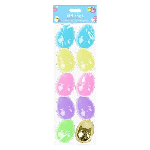 Easter Fillable Eggs 10 Pack