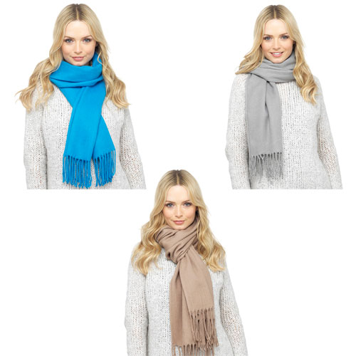 Ladies Super Soft Textured Scarf