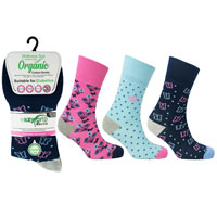 Ladies Wellness Organic Cotton Socks Hawaii