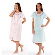 Short Sleeve Button Through Night Dress
