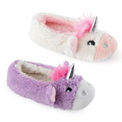 Girls Unicorn Soft Fleece Ballet Slippers