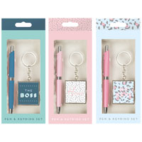 Novelty Pen and Keyring Gift Set