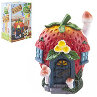 Secret Fairy Garden Strawberry Shelter