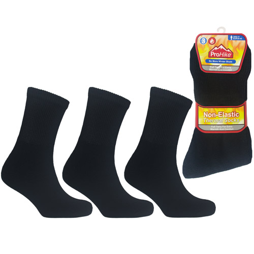 Mens ProHike Non Elastic Thermal Sock Black