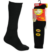 Mens Extreme Thermal Socks Long Length Black 2.45 TOG