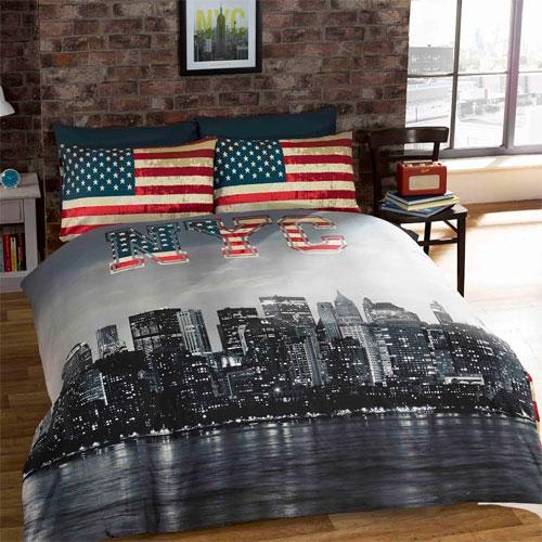 New York City Reversible Duvet Set