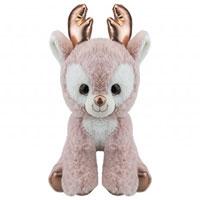 20cm Rose Gold Plush Reindeer
