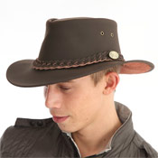 Leather Look Australian Hat Brown
