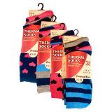 Ladies 3 Pack Thermal Socks Love Hearts